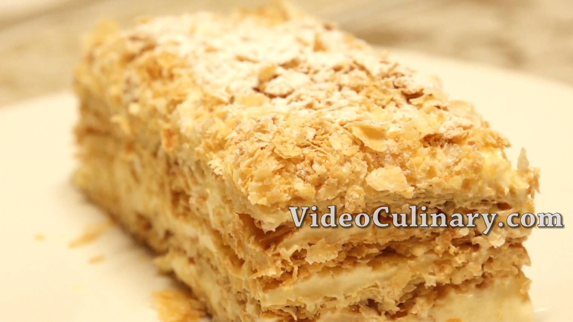 Napoleon Cake Recipe  Napoleon cake mille feuille Recipe Russian Style