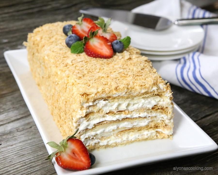 Napoleon Cake Recipe  Easy Napoleon Cake