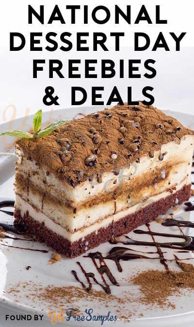 National Dessert Day 2018  National Dessert Day Freebies & Deals 2018 Yo Free Samples