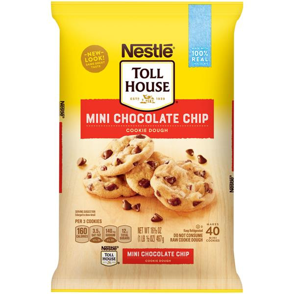 Nestle Toll House Chocolate Chip Cookies  Nestle Toll House Mini Chocolate Chip Cookie Dough 40Ct