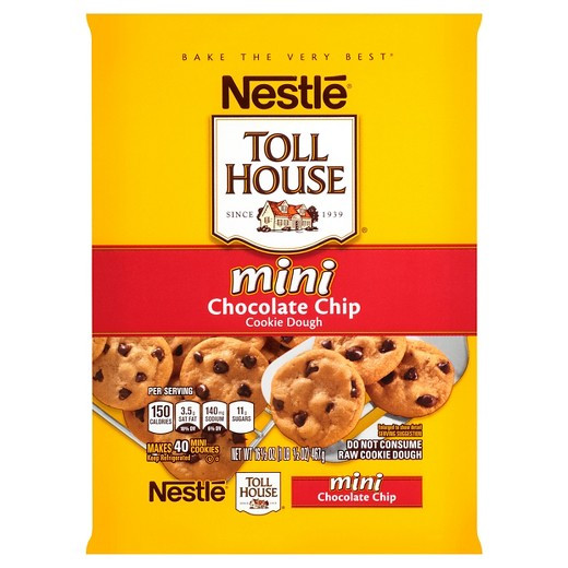Nestle Toll House Chocolate Chip Cookies  Nestle Toll House Mini Chocolate Chip Cookie Dough 16