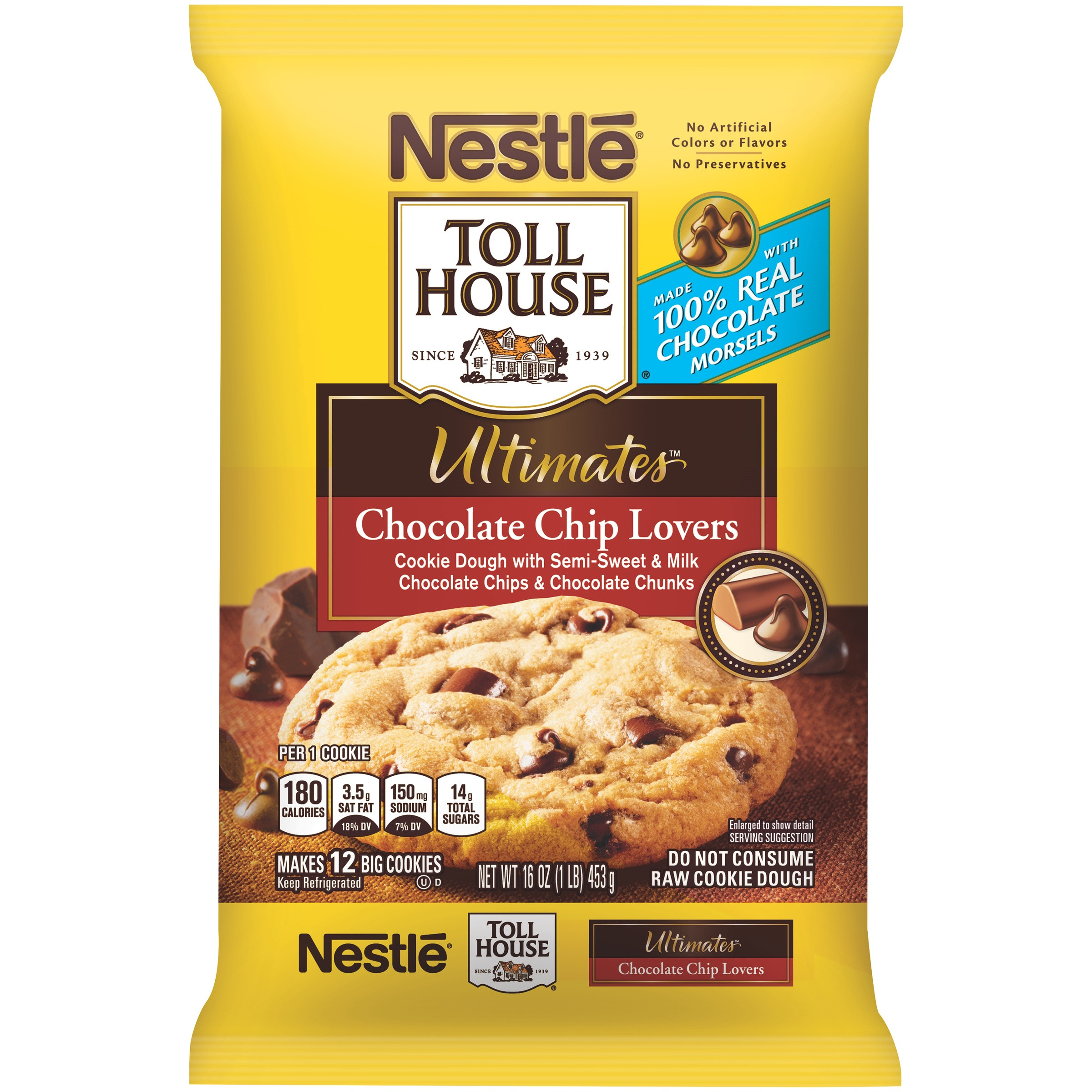 Nestle Toll House Chocolate Chip Cookies  Nestle Toll House Chocolate Chip Cookie Dough Nutrition