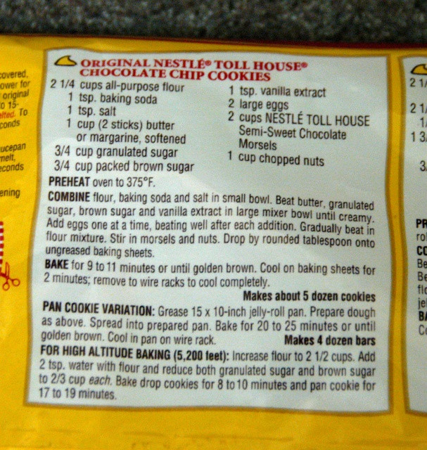 Nestle Toll House Chocolate Chip Cookies  Nestle Toll House Chocolate Chip Cookies Recipe File