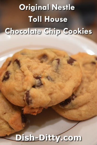 Nestle Toll House Chocolate Chip Cookies  Original Nestle Toll House Chocolate Chip Cookies Recipe