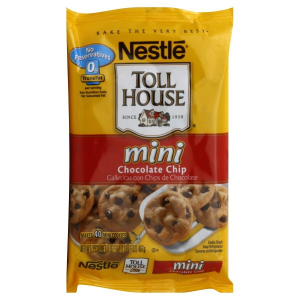 Nestle Toll House Chocolate Chip Cookies  Nestle Toll House Cookie Dough Bar Chocolate Chip Mini 40 ct