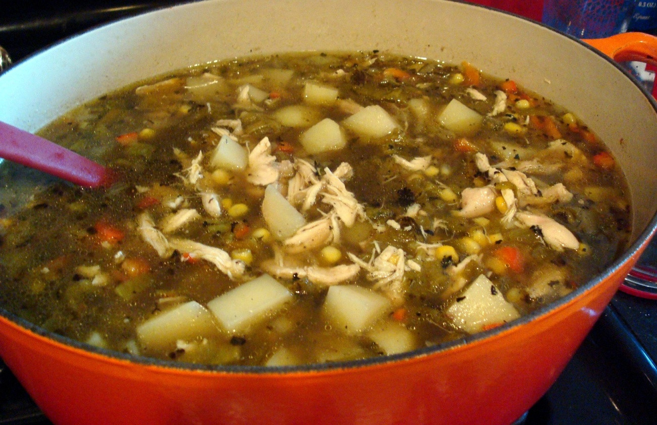 """New Mexico Green Chile Stew  Freckled Citizen My """"Missing New Mexico"""" Green Chile Stew"""