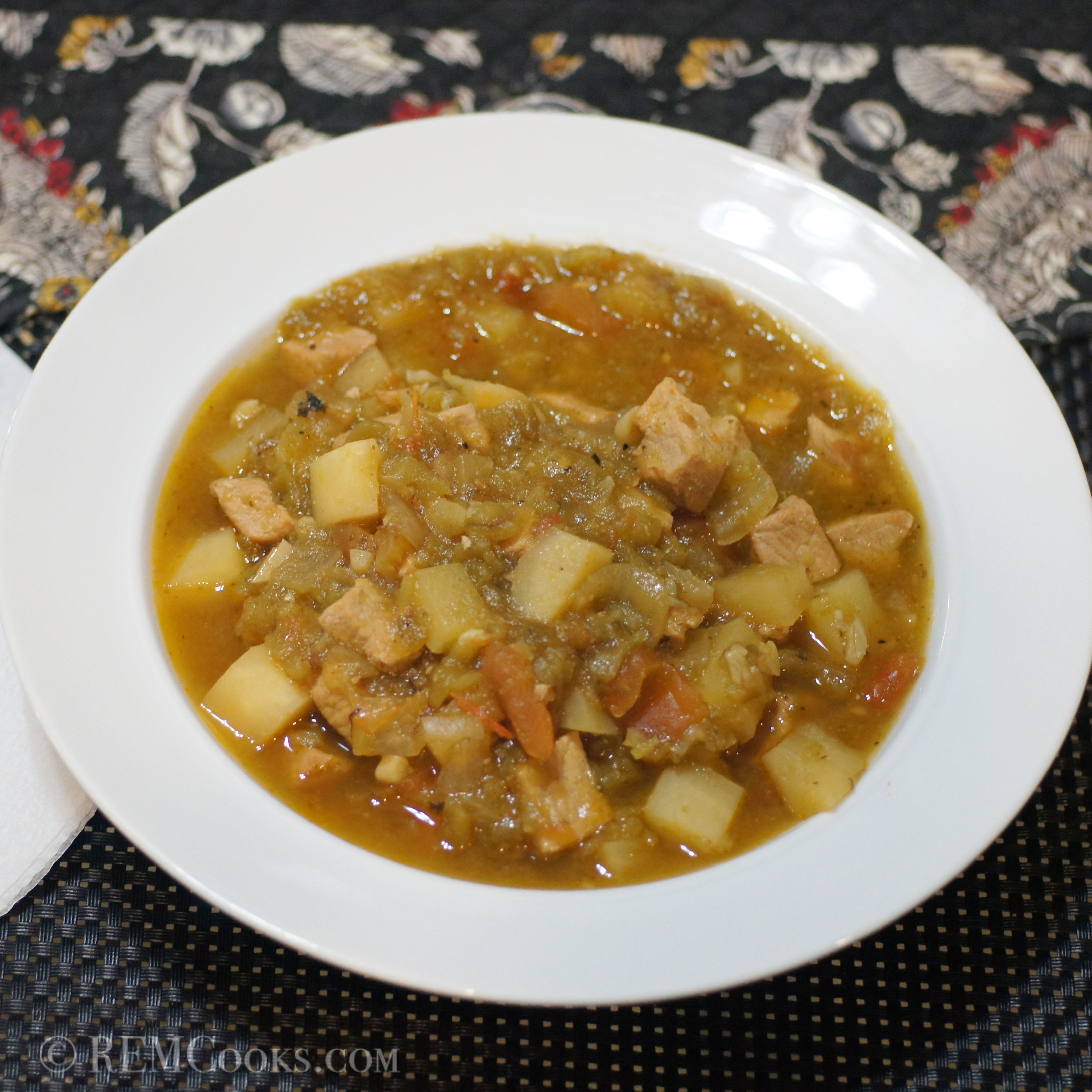 New Mexico Green Chile Stew  New Mexico Green Chile Stew