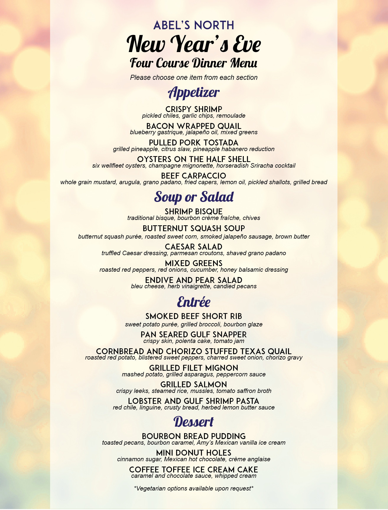 New Year Day Dinner Menu  New Year s Eve menu 3 01