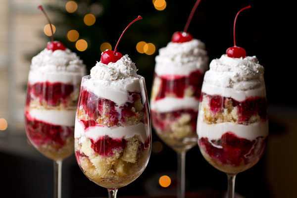New Years Desserts  New Year s Eve Parfaits with Raspberries and Chambord
