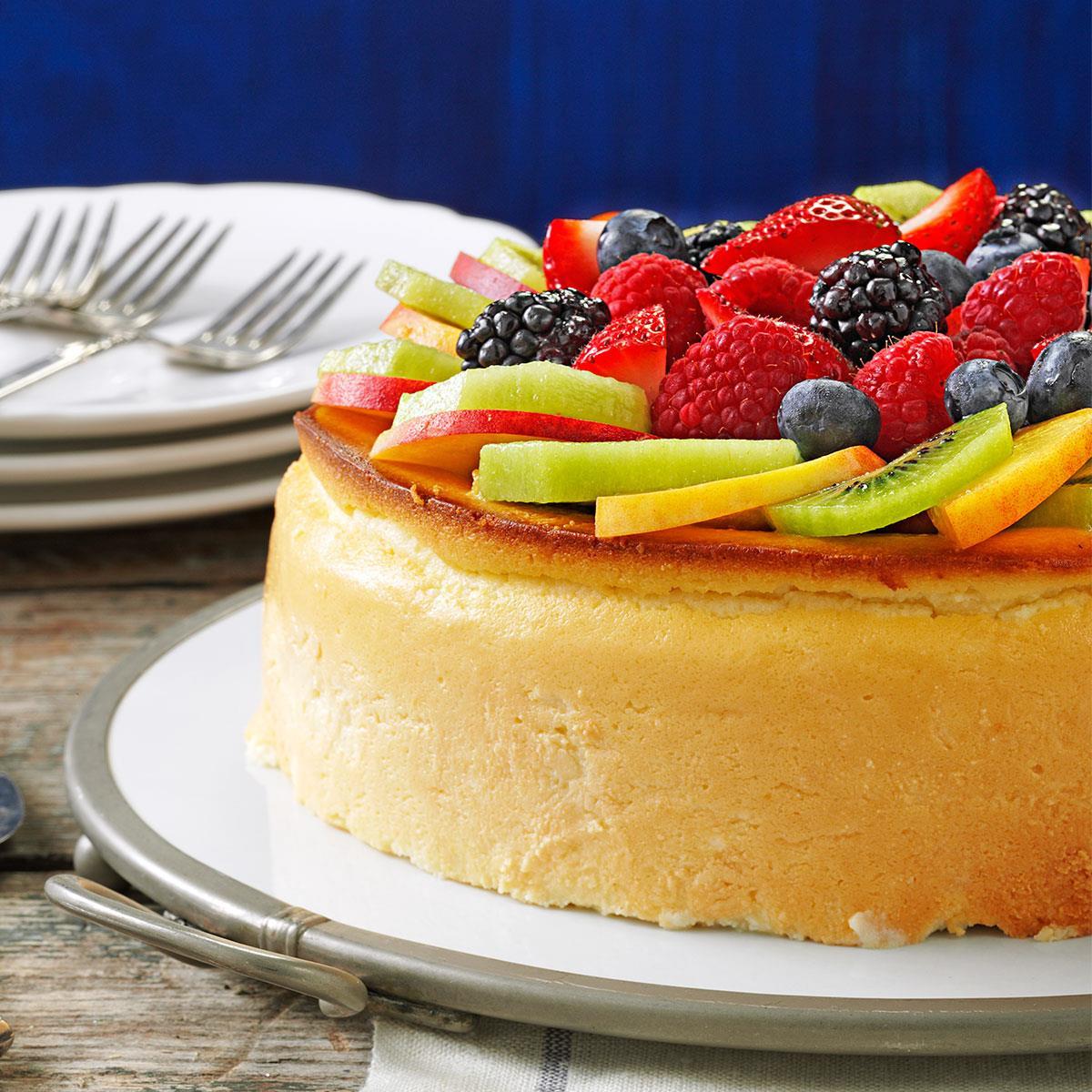 New York Cheese Cake  Crustless New York Cheesecake Recipe