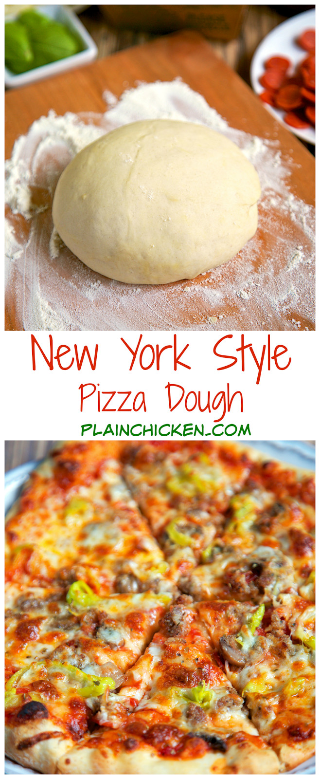 New York Style Pizza Dough Recipe  New York Style Pizza Dough