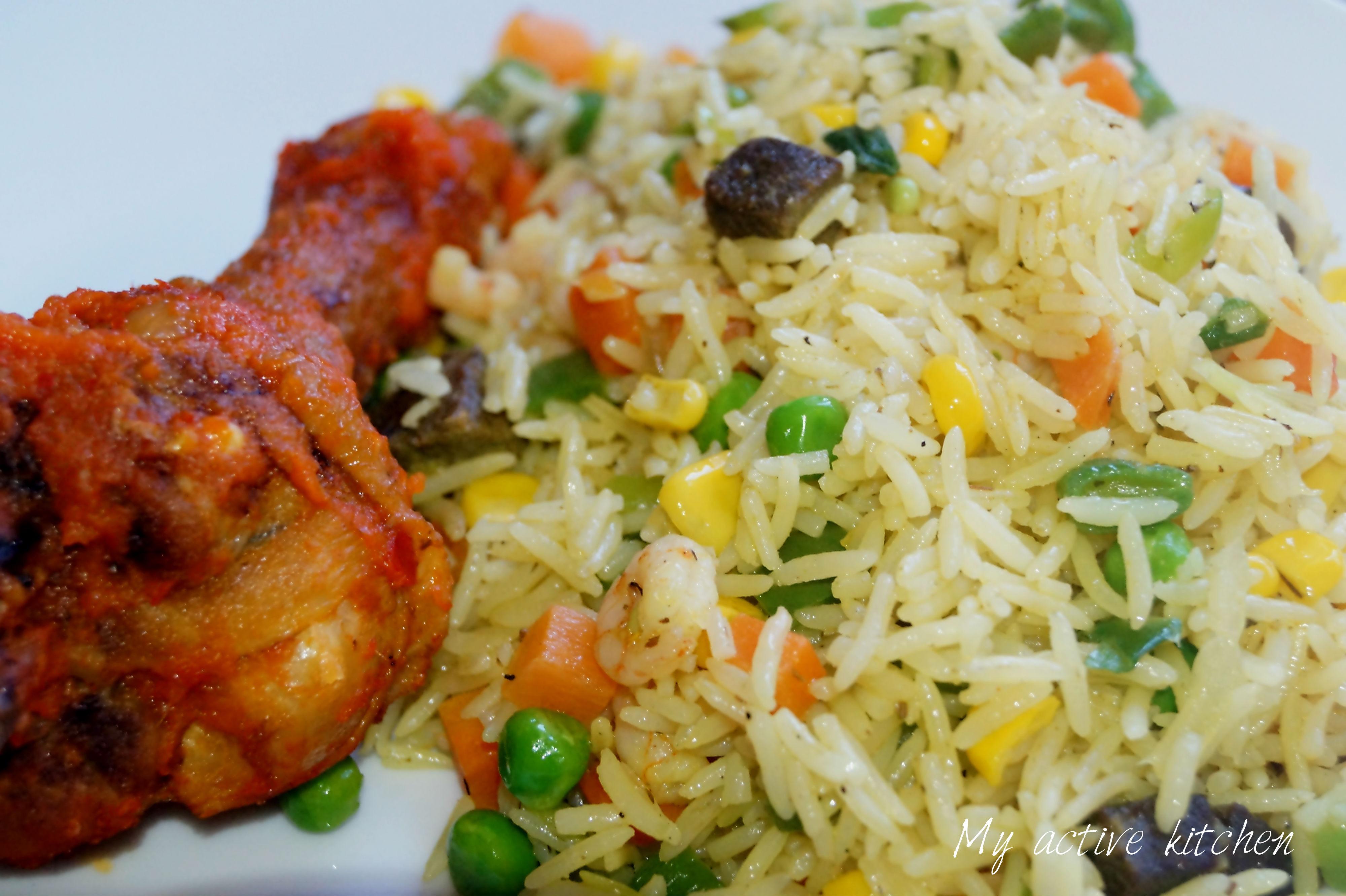 Nigerian Fried Rice  Nigerian Fried Rice My Active Kitchen