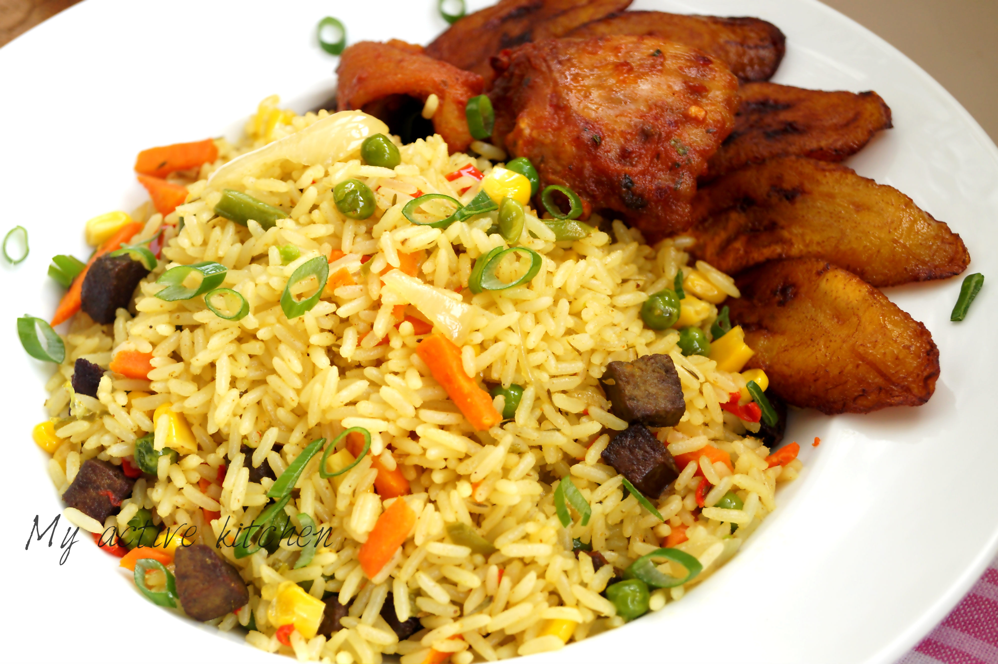 Nigerian Fried Rice  Coconut Fried Rice My Active Kitchen