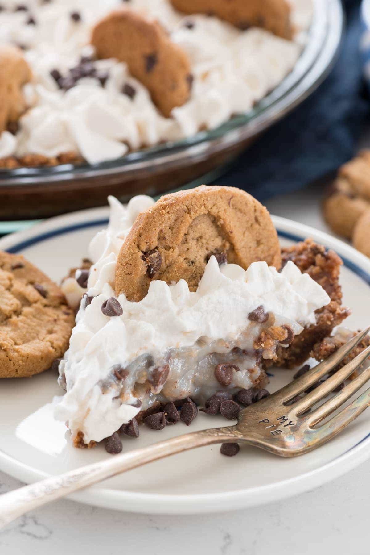 No Bake Chocolate Chip Cookies  No Bake Chocolate Chip Cookie Pudding Pie Crazy for Crust