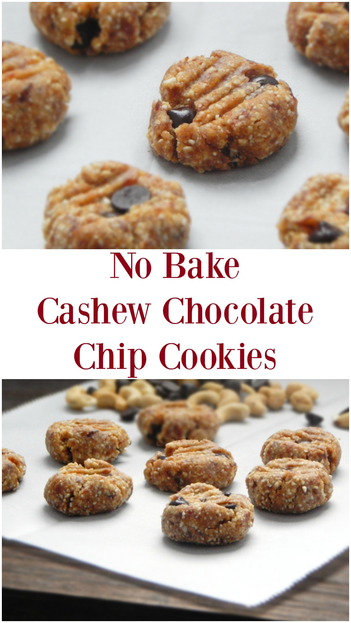 No Bake Chocolate Chip Cookies  November Before December this Year Recipe No Bake Cashew