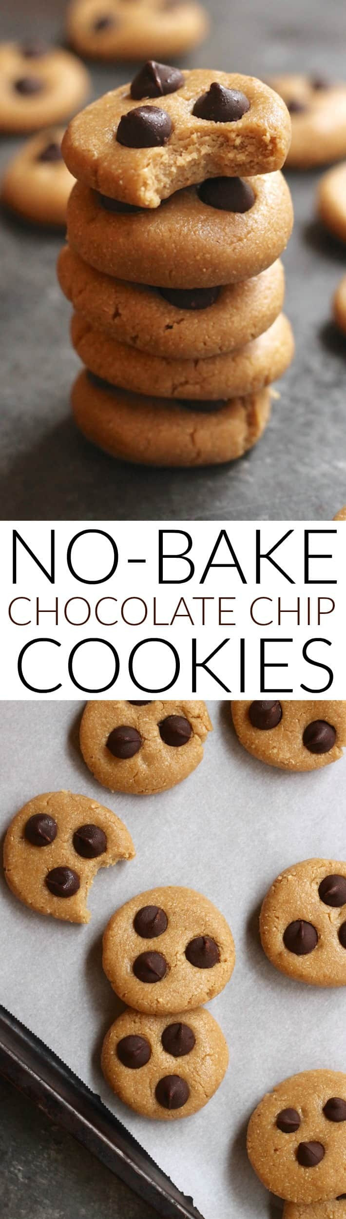 No Bake Chocolate Chip Cookies  Soft and Chewy No Bake Chocolate Chip Cookies