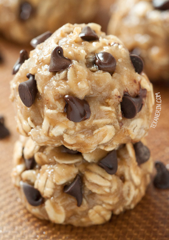 No Bake Chocolate Chip Cookies  No bake Peanut Butter Cookies vegan gluten free whole