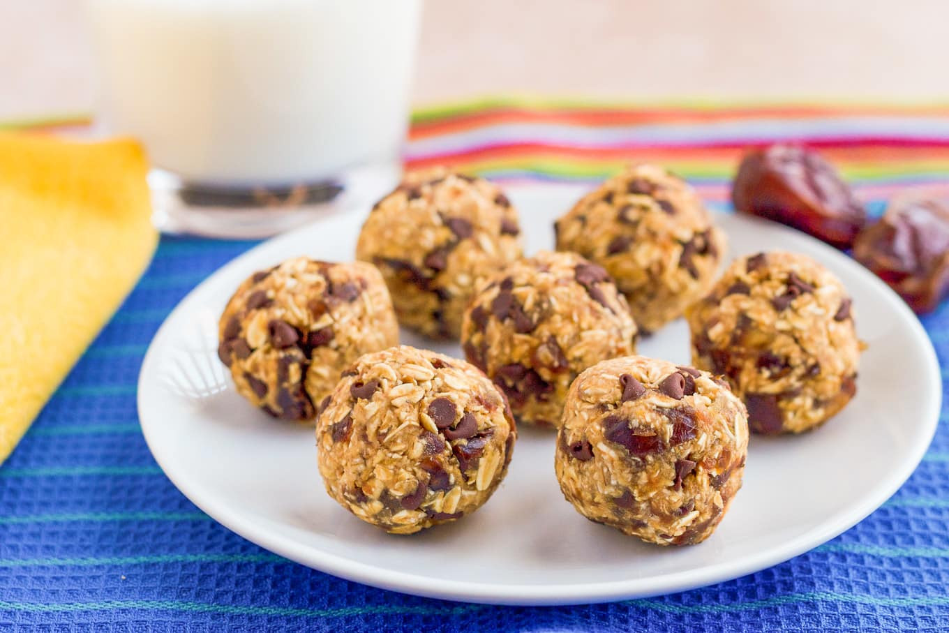 No Bake Chocolate Chip Cookies  No bake chocolate chip cookie balls 4 ingre nts
