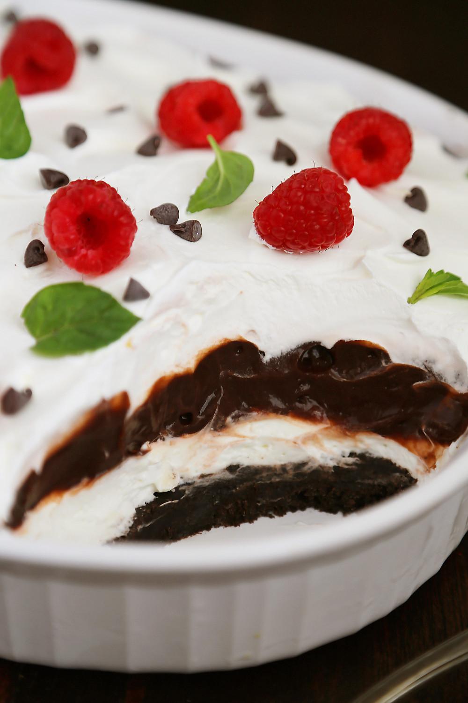 No Bake Chocolate Desserts  No Bake Chocolate Layer Dessert