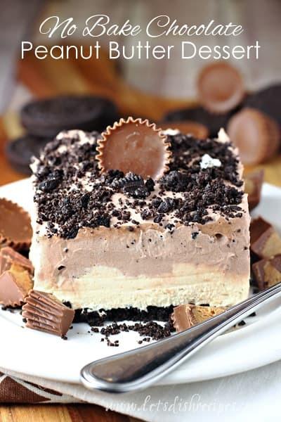No Bake Chocolate Desserts  Chocolate Peanut Butter No Bake Dessert