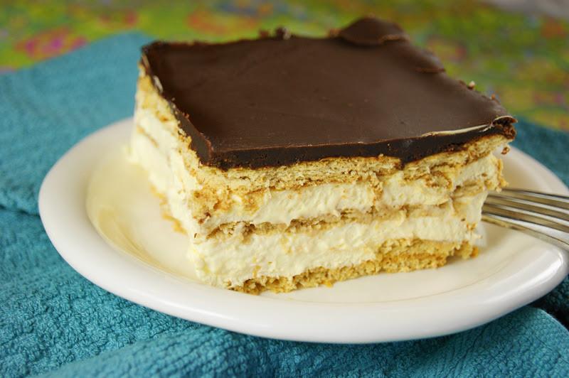 No Bake Chocolate Eclair Dessert  No Bake Chocolate Eclair Dessert