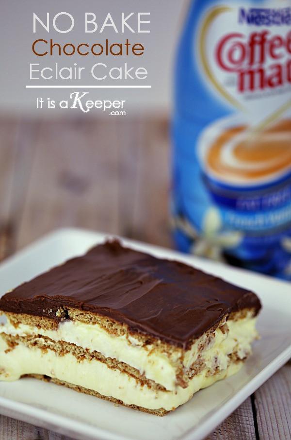 No Bake Chocolate Eclair Dessert  No Bake Chocolate Eclair Cake