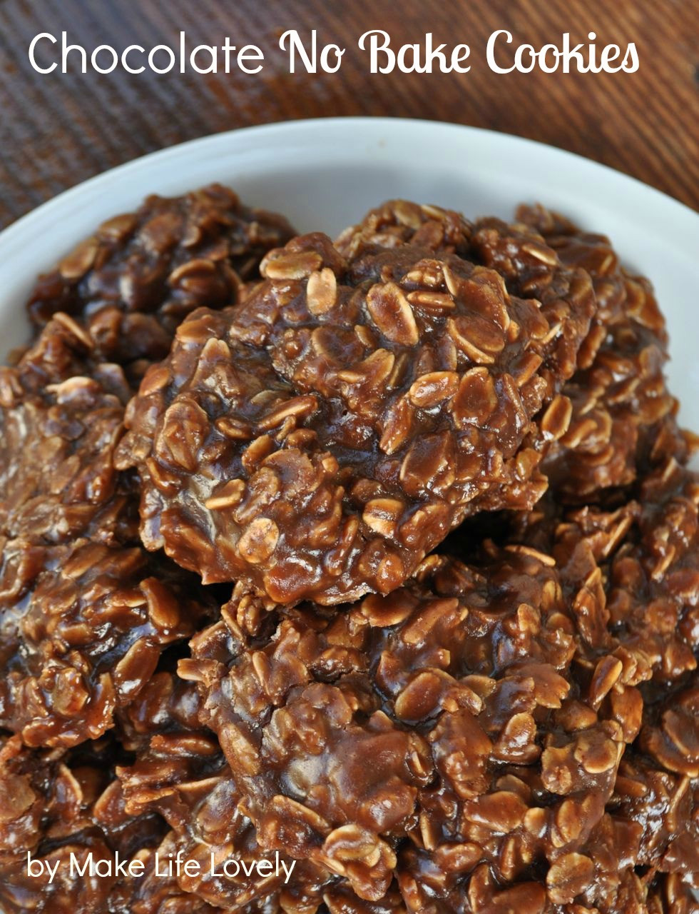 No Bake Cookies  Chocolate No Bake Cookies Recipe