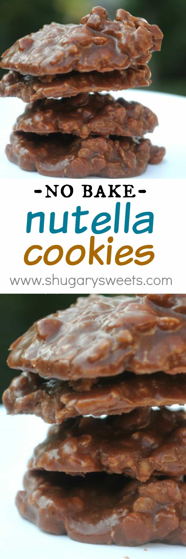 No Bake Cookies Recipes  Nutella No Bake Cookies Shugary Sweets