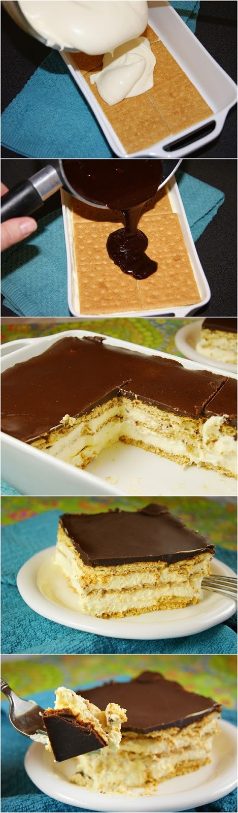 No Bake Eclair Dessert  No Bake Eclair Cake firstyum