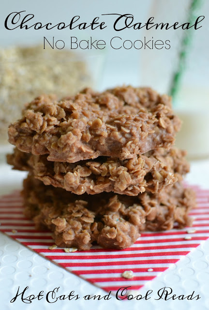 No Bake Oatmeal Cookies Without Peanut Butter  Hot Eats and Cool Reads Chocolate Oatmeal No Bake Cookies