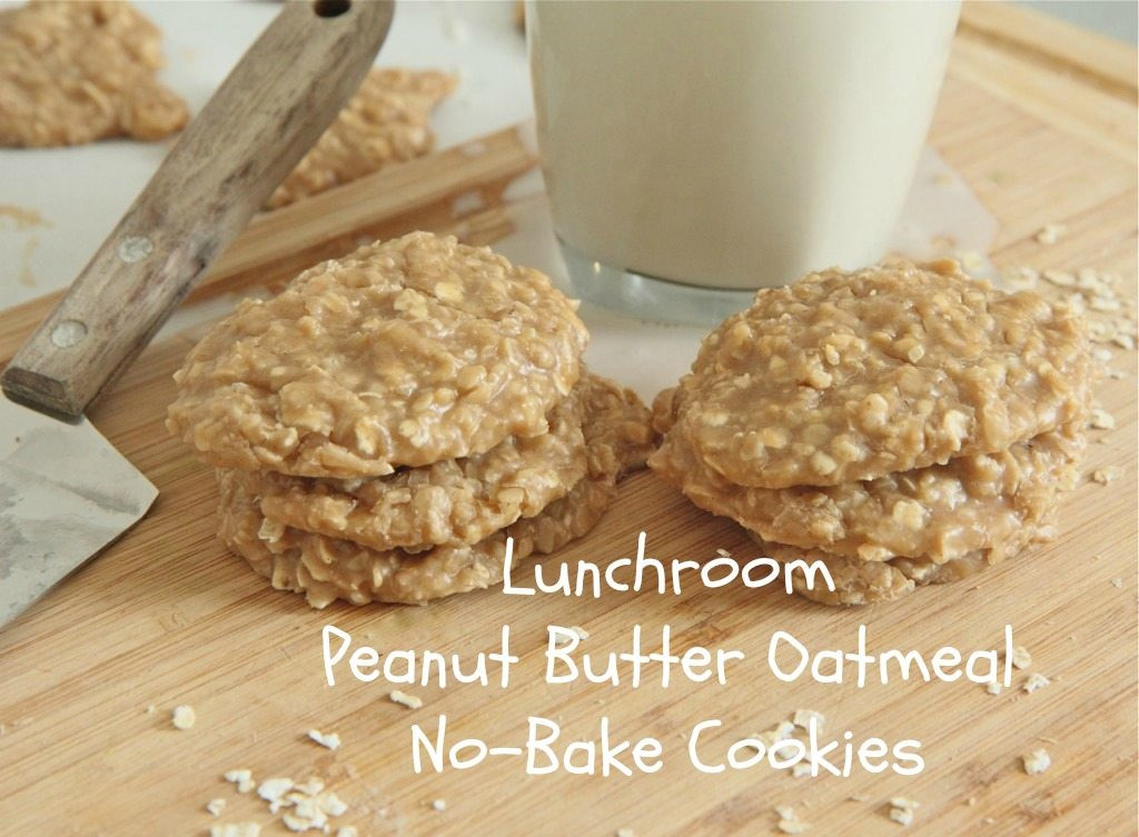 No Bake Peanut Butter Oatmeal Cookies  Old Fashioned Peanut Butter No Bake Cookies