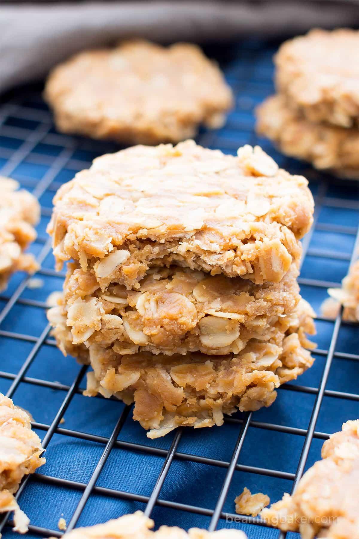 No Bake Peanut Butter Oatmeal Cookies  3 Ingre nt No Bake Peanut Butter Oatmeal Cookies Gluten