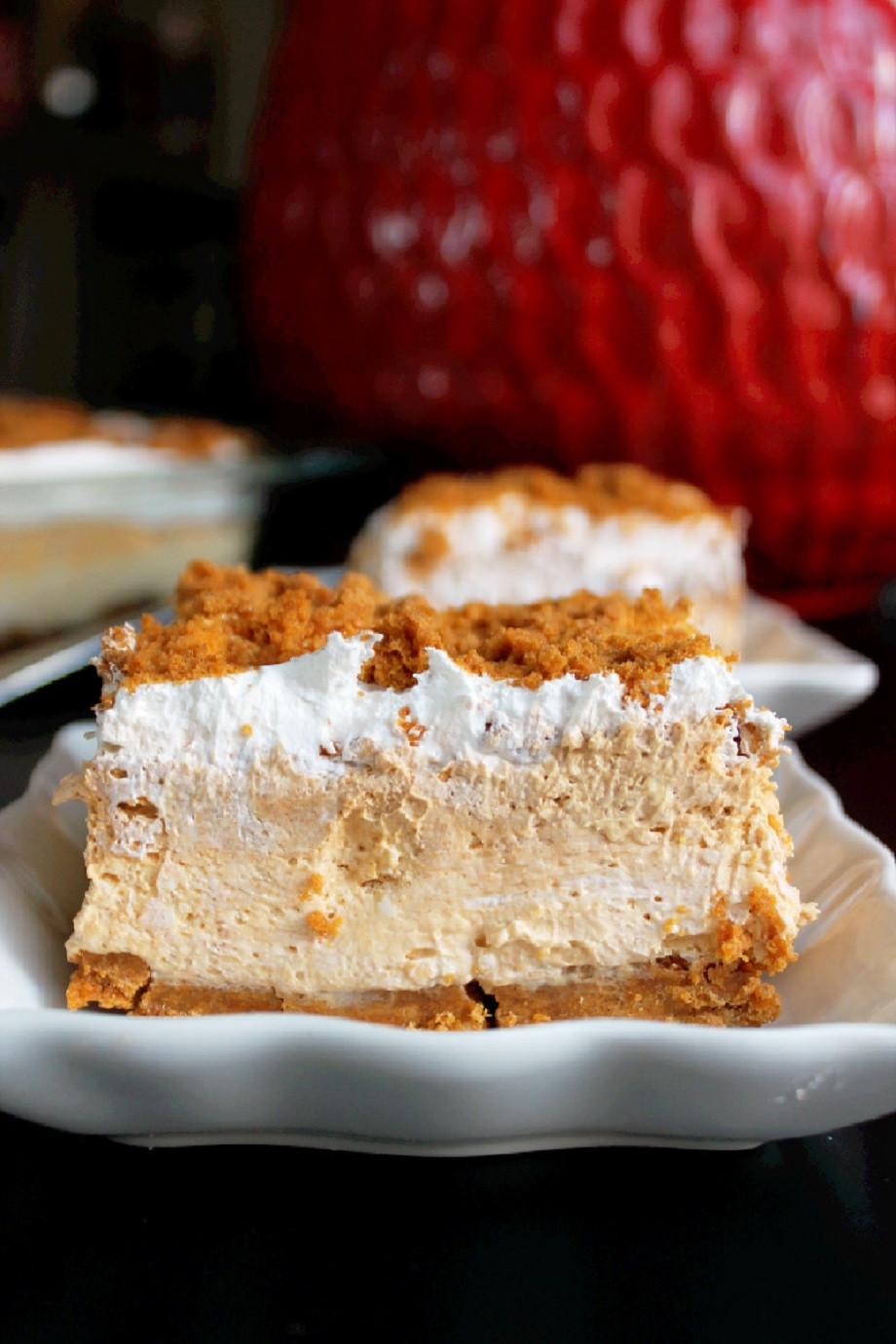No Bake Pumpkin Desserts  No Bake Pumpkin Cheesecake Lasagna Creole Contessa