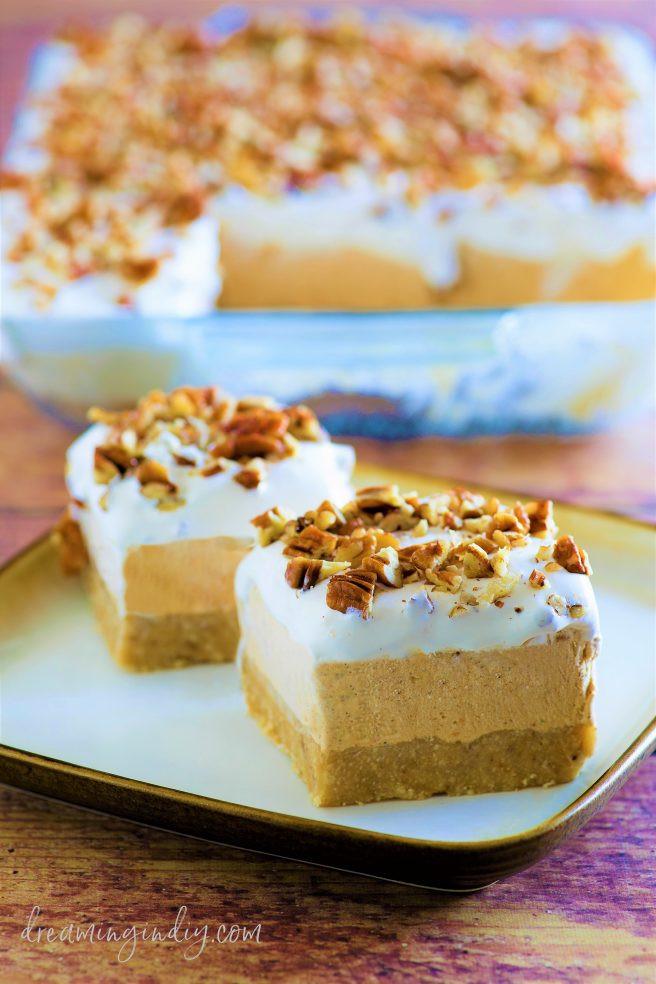 No Bake Pumpkin Desserts  Pumpkin Spice Lush – Easy No Bake Layered Dessert Recipe