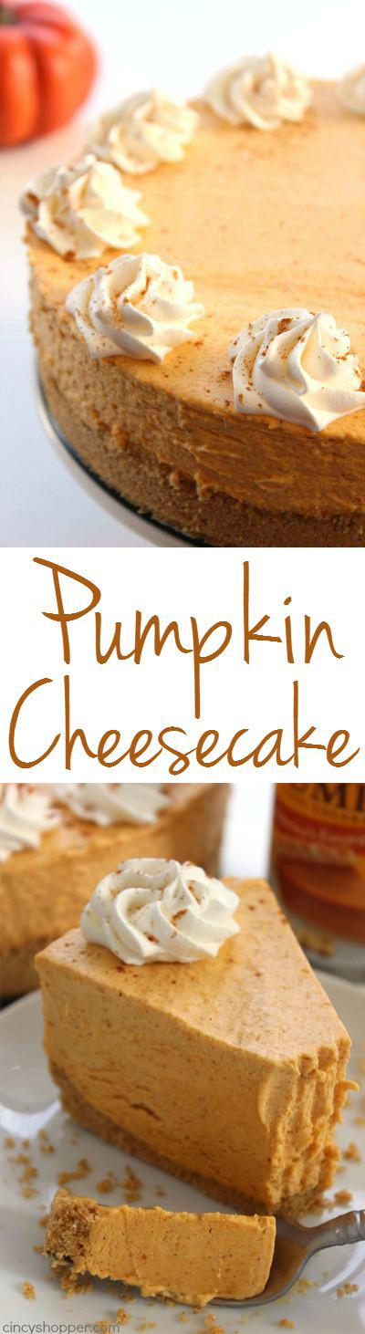 No Bake Pumpkin Desserts  No Bake Pumpkin Cheesecake CincyShopper