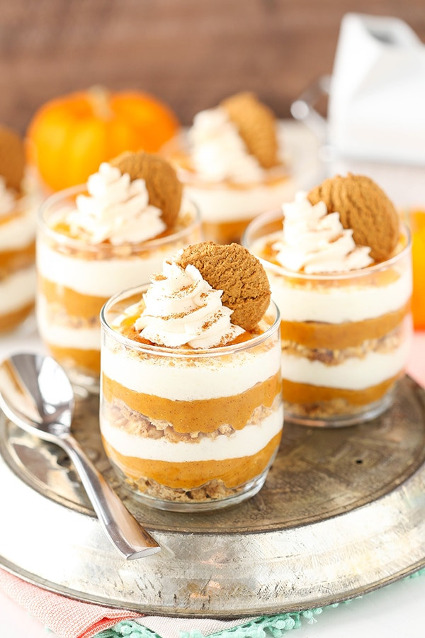 No Bake Pumpkin Desserts  No Bake Pumpkin Pie in a Jar Life Love and Sugar