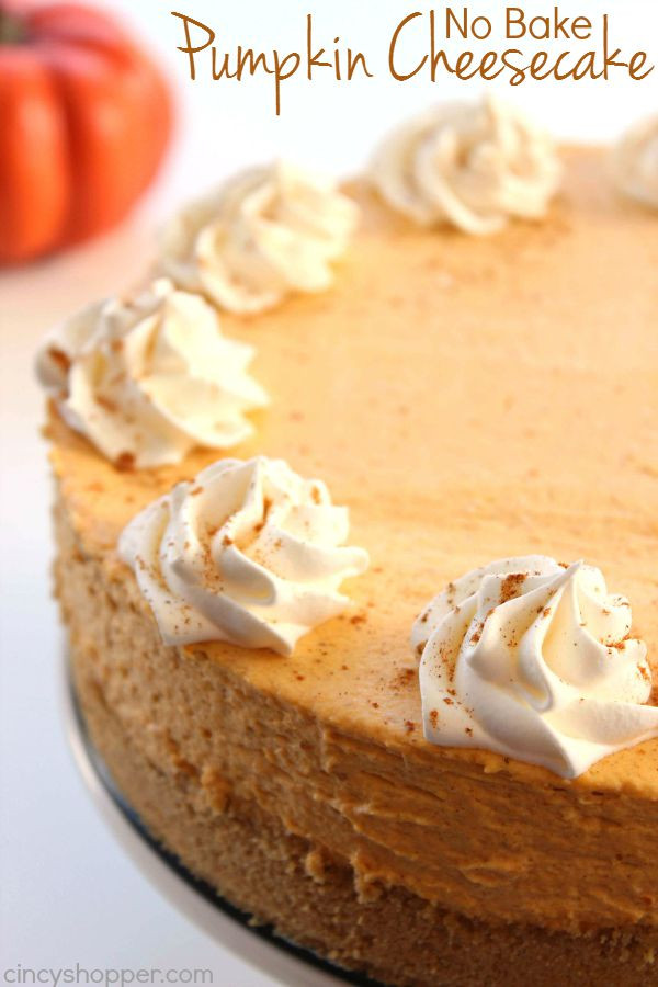 No Bake Pumpkin Desserts  No Bake Pumpkin Cheesecake CincyShopper