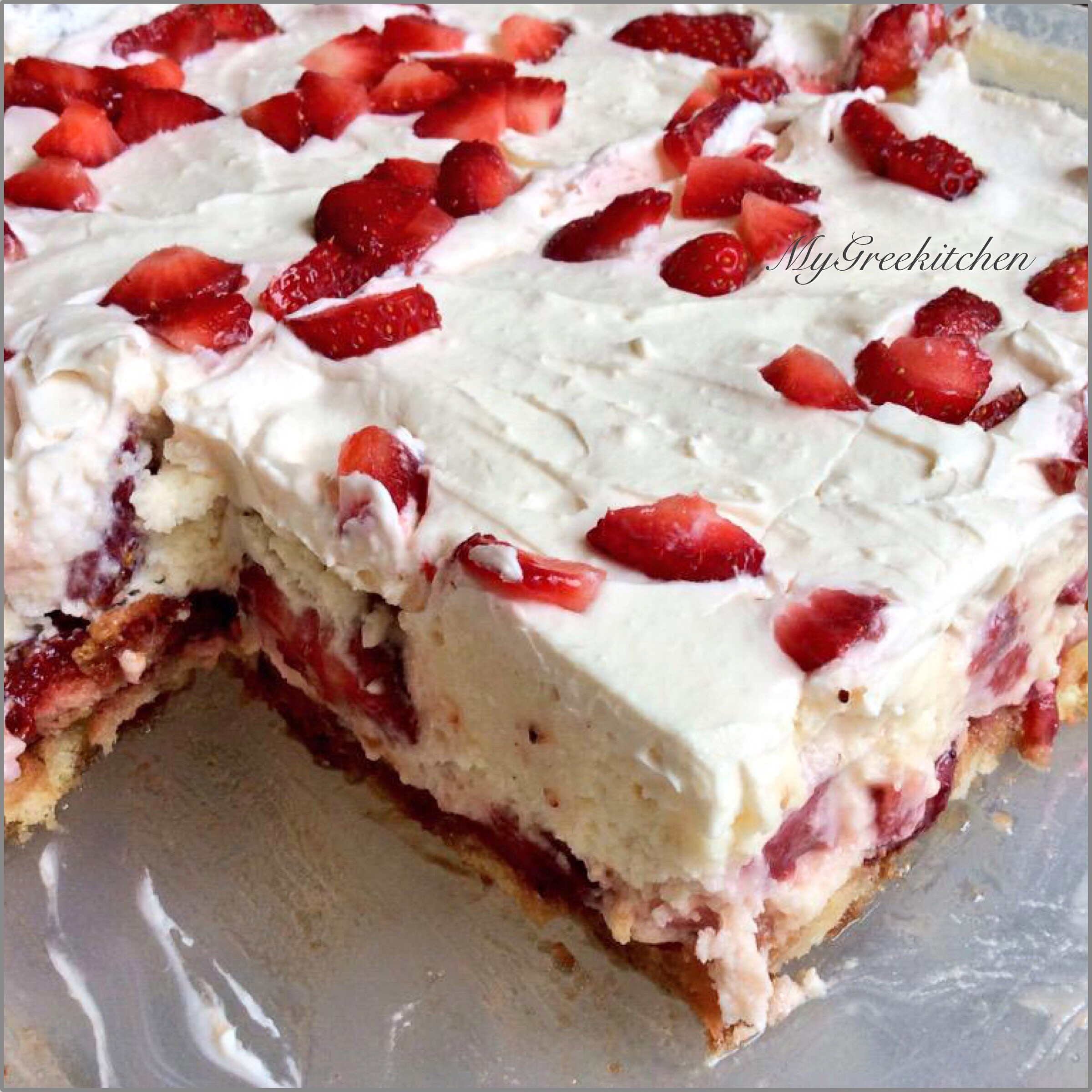 No Bake Strawberry Dessert  Foodista Recipes Cooking Tips and Food News