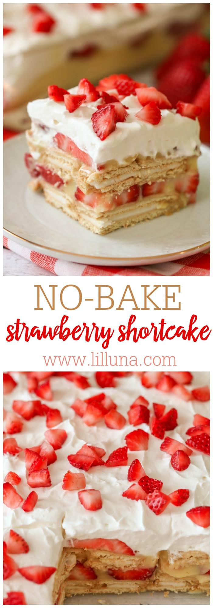 No Bake Strawberry Dessert  No Bake Strawberry Shortcake Lil Luna