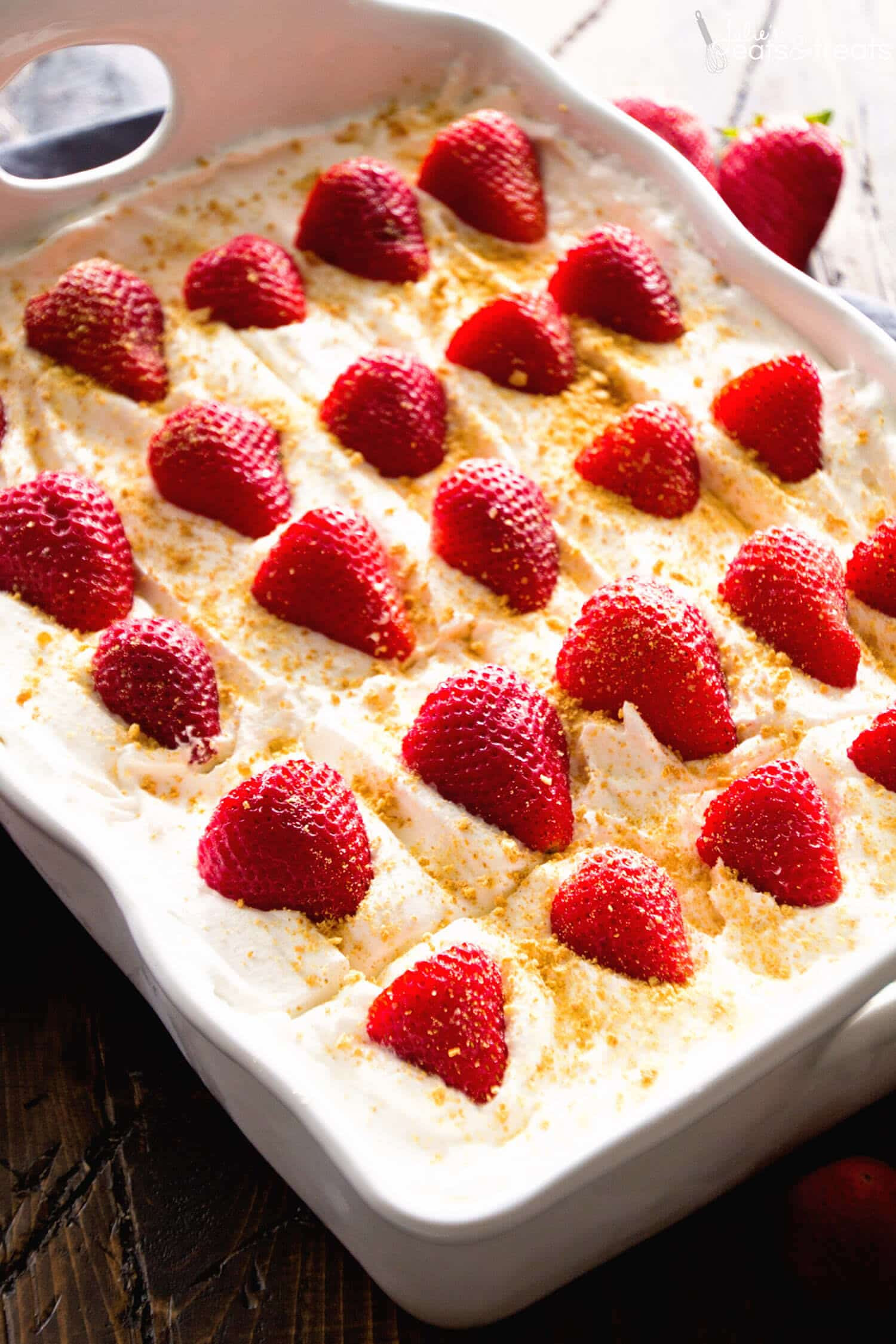 No Bake Strawberry Dessert  No Bake Strawberry Cheesecake Icebox Cake Recipe Julie s