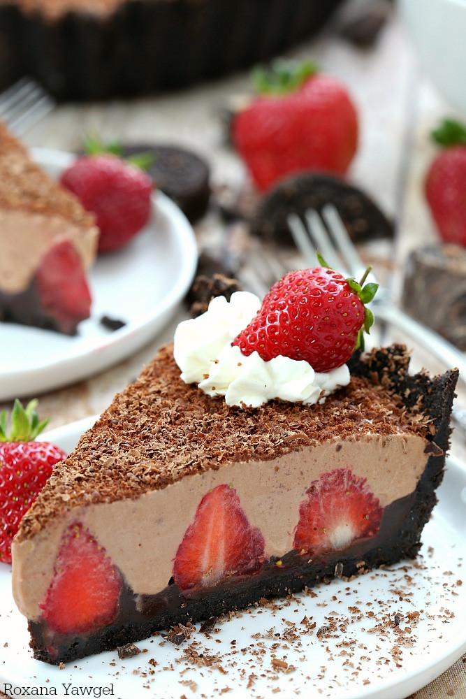 No Bake Strawberry Dessert  No bake strawberry chocolate pie recipe
