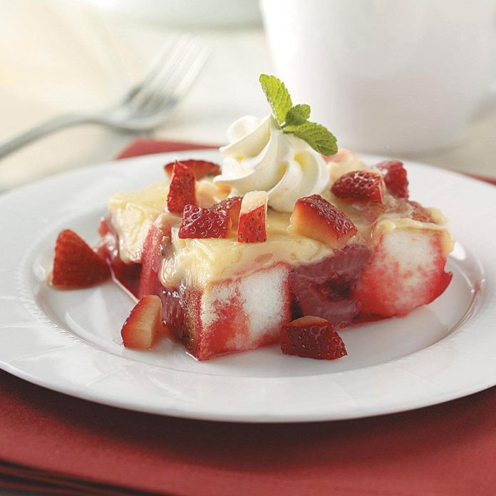 No Bake Strawberry Dessert  No Bake Strawberry Dessert Recipe