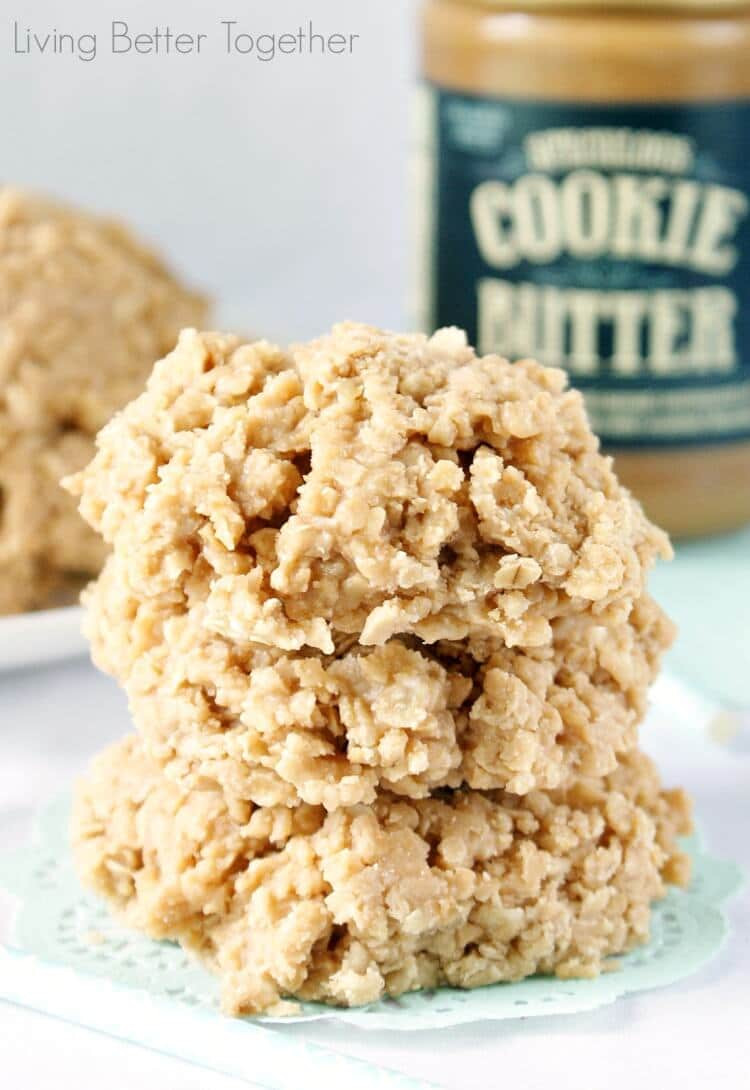 No Butter Cookies  Cookie Butter No Bake Cookies Sugar & Soul