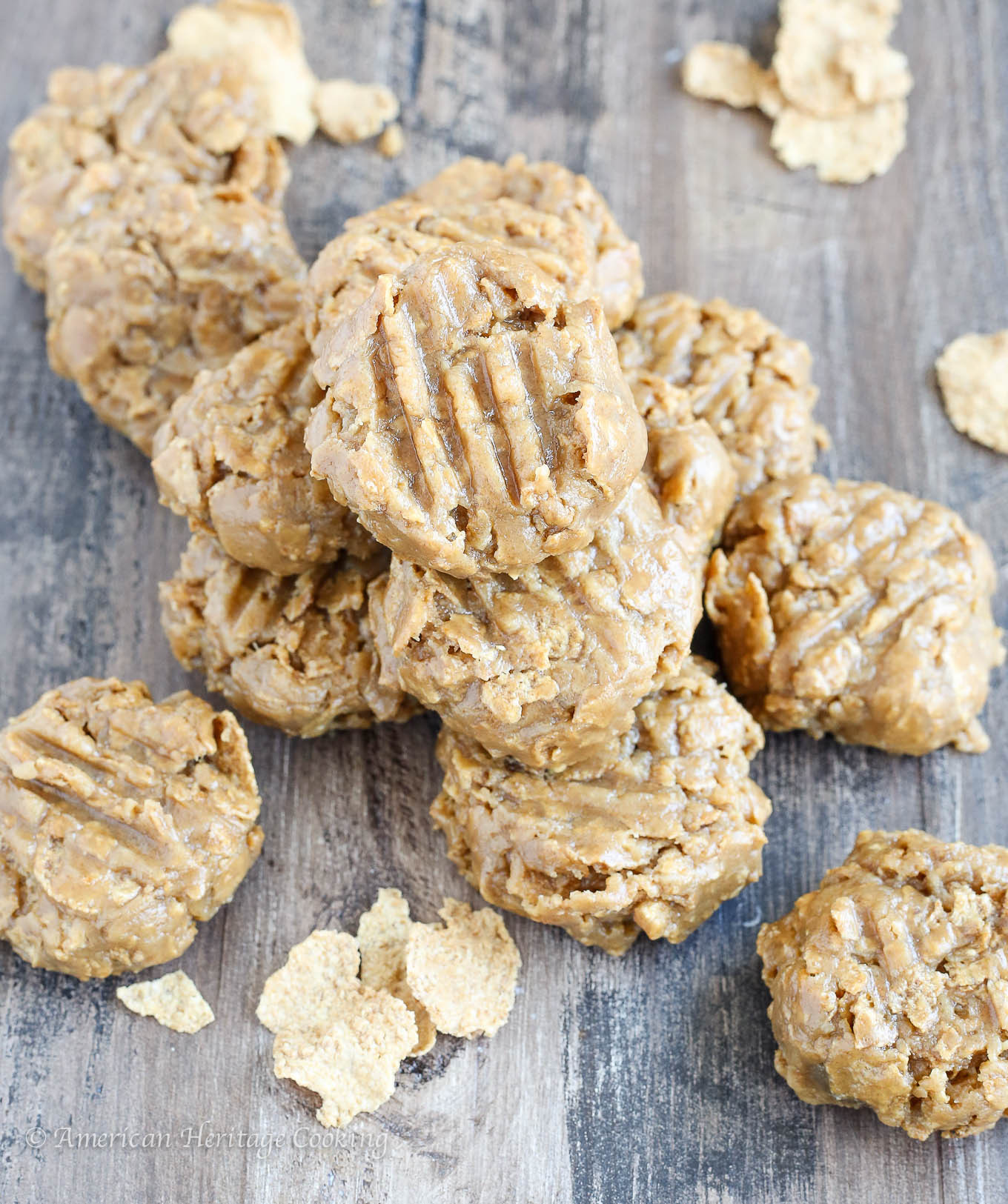 No Butter Cookies  No Bake Peanut Butter Cookies American Heritage Cooking