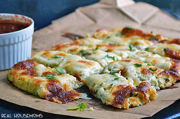 No Carb Dinner Recipes  Low Carb Cauliflower Breadsticks Low Carb Recipes VIDEO