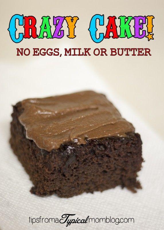 No Egg Desserts  Best 25 Crazy cake recipes ideas on Pinterest