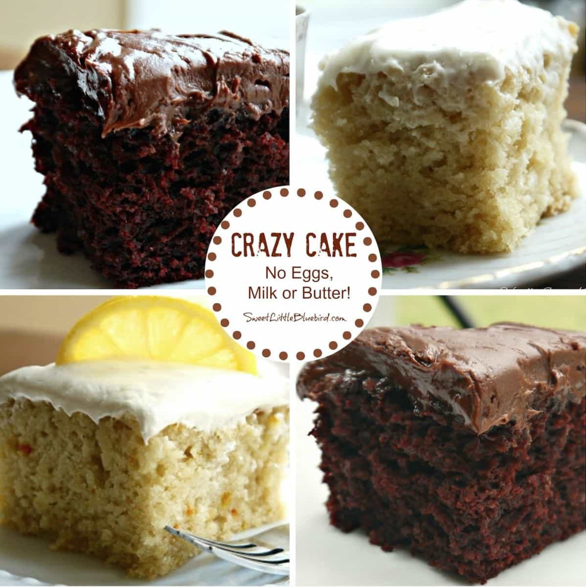 No Egg Desserts  Crazy Cake has No Eggs Butter Milk