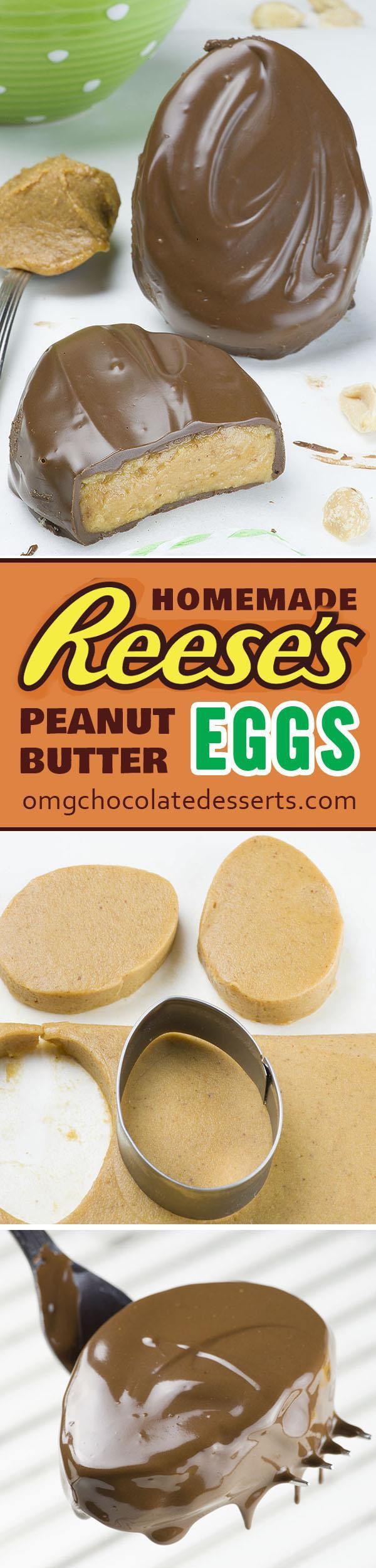 No Eggs Dessert  Homemade Reese's Eggs