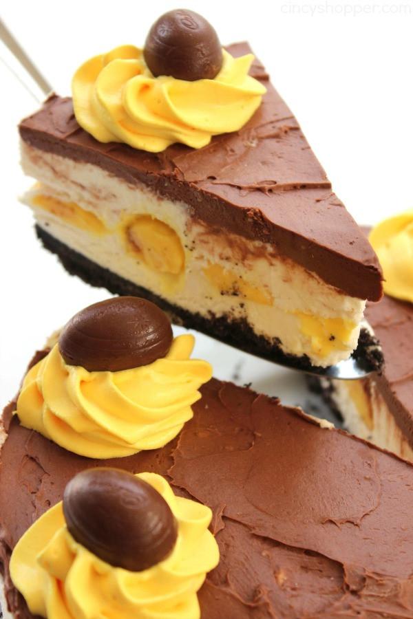 No Eggs Dessert  No Bake Cadbury Egg Cheesecake CincyShopper