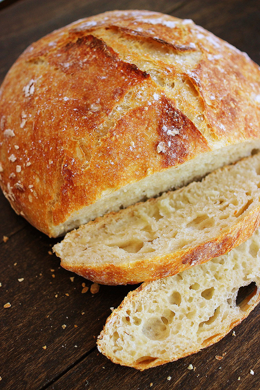 No Knead Bread Recipe  No Knead Crusty Artisan Mini Loaves